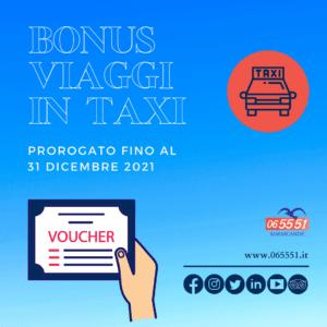 Buoni taxi per donne, anziani e disabili